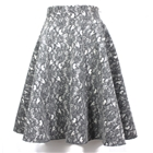 Midi Skirt Lace Wool fabric with vintage touch