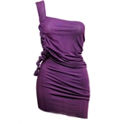 Purple Do Knot Eye Slit Party Dress