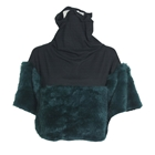 Do Knot Wear Fur Cowl Neck Polo Top